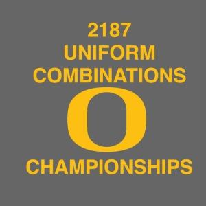 2187 UNIFORM COMBINATIONS O CHAMPIONSHIPS