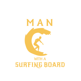 NEVER UNDERESTIMATE A MAN WITH A SURFING BOARD!