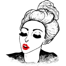 Vintage Retro Girl Kiss