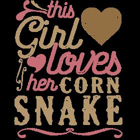 This Girl Loves Her Corn Snake Reptile