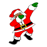 Dab Black Santa Claus