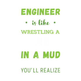 Arguing With An Engineer Is Like Wrestling a pig i
