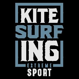 Kitesurfing Typography T-shirt
