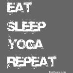 Eat Sleep Yoga Repeat - wb - TC