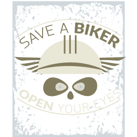 Save a biker open your eyes