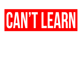 CAN'T LEARN WITHOUT PAIN QUOTE GYM WORKOUT