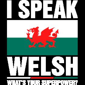 I Speak Welsh Whats Your Superpower Tshirt