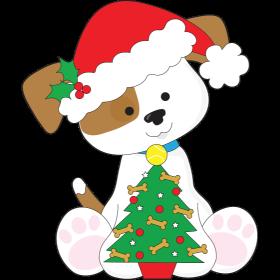 cute puppy santa
