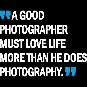 a good photographer must