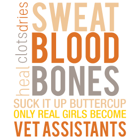 Heal clots dries sweat blood bones suck it up butt