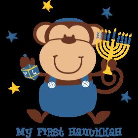 Monkey Boy 1st Hanukkah