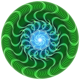 Waves of Green Mandala