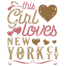 This Girl Loves New York City - NYC Gift
