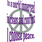 I Choose Peace
