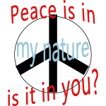 Peace Is in My Nature