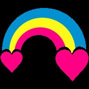 rainbow & hearts