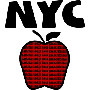 NYC With Big Apple And 5 Boroughs--DIGITAL DIRECT PRINT ONLY
