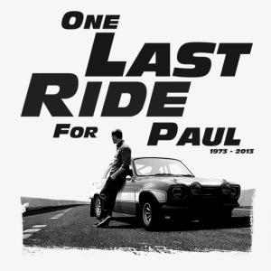 One last ride for paul walker
