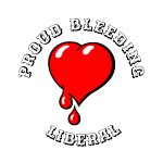Red Bleeding Heart liberal vintage