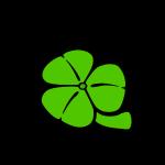 Shamrock Saint Patricks Day black text