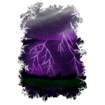 Purple Lightning Scene