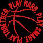 play hard play smart play together basketball team