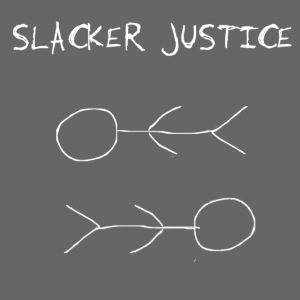 SLACKER JUSTICE stickman shirt white new png