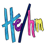 He/Him 1 - Small (Nametag)