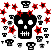 Multitude of Skulls With Stars--DIGITAL DIRECT PRINTING ONLY!