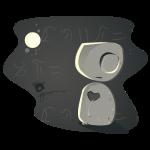 crumbled heart moon