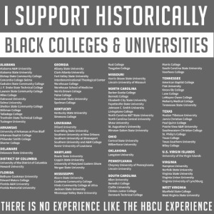 Support HBCUs List