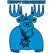 happy hanukkah moose-deer