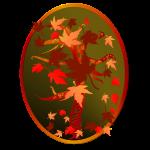 Autumn Tree Oval