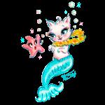Mermaid Cat with Starfish