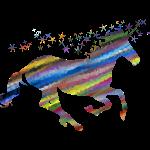 The Majestic Prismatic Streaked Magical Unicorn