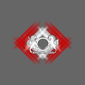 Atheist Republic Logo - Red & White Stripe Diamond