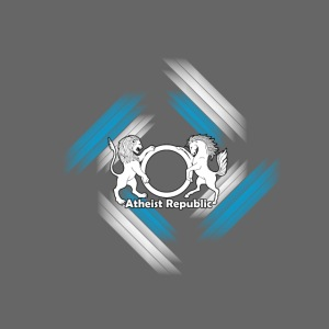 Atheist Republic Logo - Blue & White Stripes