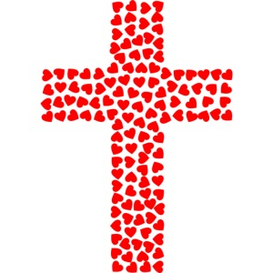 Jesus Love heart cross