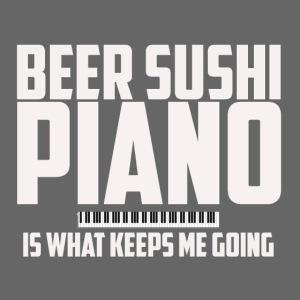 BEER SUSHI PIANO T-SHIRT