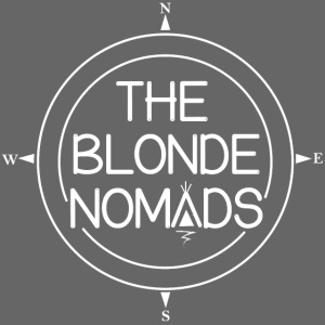 The Blonde Nomads logo WHITE