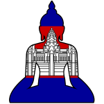 Cambodian Buddha flag