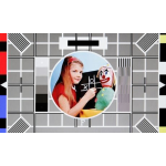 BBC test card F featuring 008