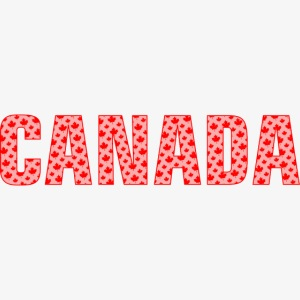 Canada Pattern-Filled Text Red