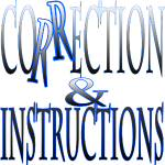 Correction & Instructions