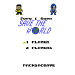 Joey & Owen Save the World Title Screen (1 Player)
