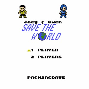 Joey Owen Save the World Title Screen 1 Player