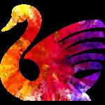 psychedelic swan tshirt image