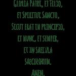 Gloria Patri, et Filio, e