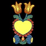 Tulip Heart Floral Motif