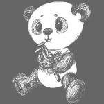 Panda Bear scribblesirii white